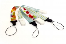Pacifier holder | Lanyards  Custom Fabric Bracelets